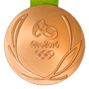 Summer Olympics 2016 Medal Reverse Side