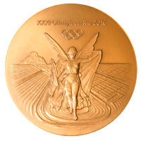 Summer Olympics 2016 Medal Front Side