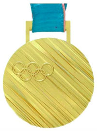 Winter Olympics 2018 Medal Front Side