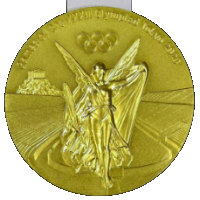 Summer Olympics 2020 Medal Front Side